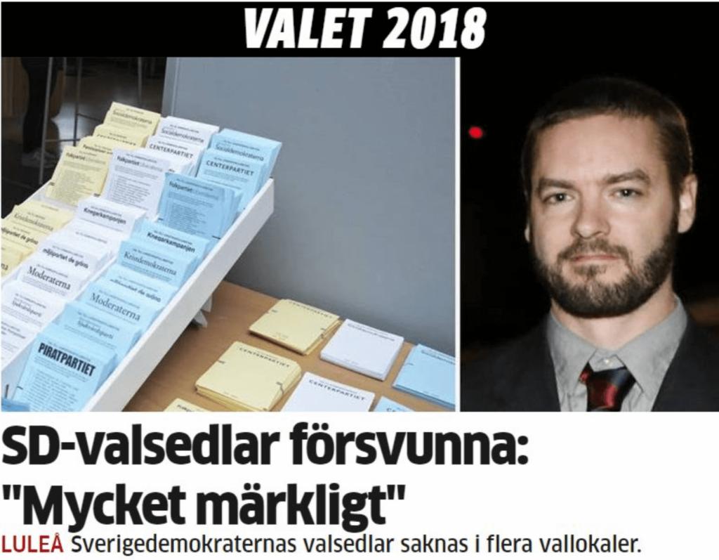 Valmyndighetens chef: Nej, vi har inget system för att kontrollera valfusk i Sverige!