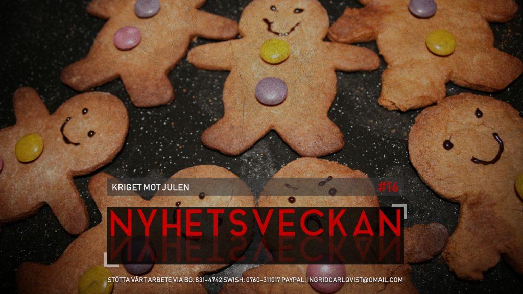 Nyhetsveckan #16 – Kriget mot julen