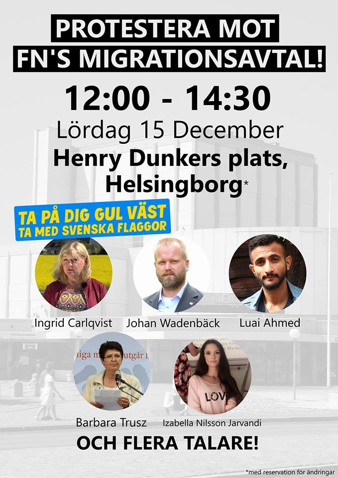 Bejublade tal vid torgmöte mot Global Compact i Helsingborg