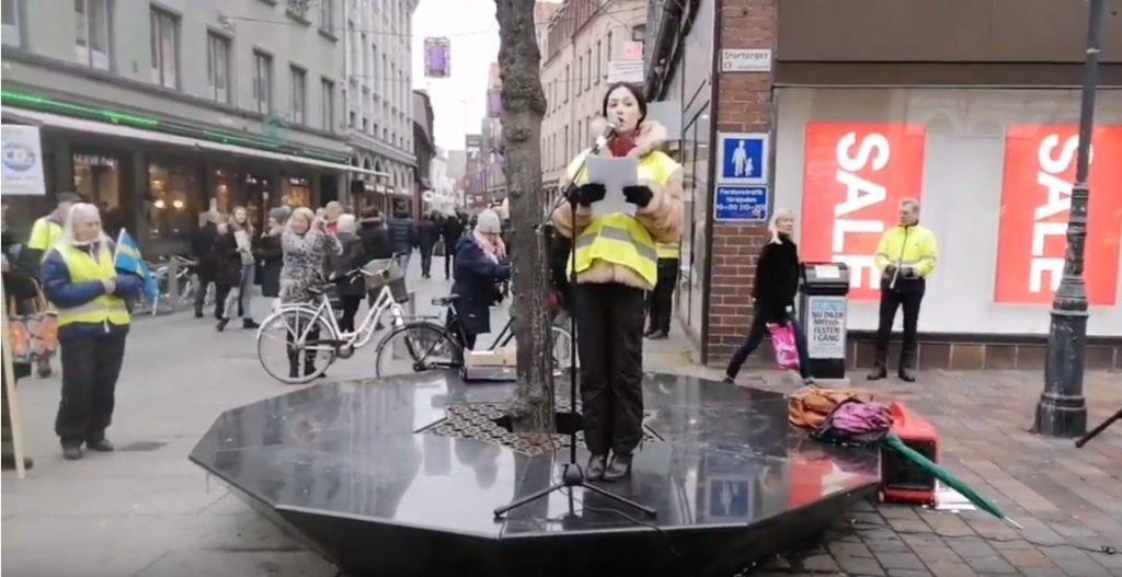 Demonstration mot globalism i Helsingborg