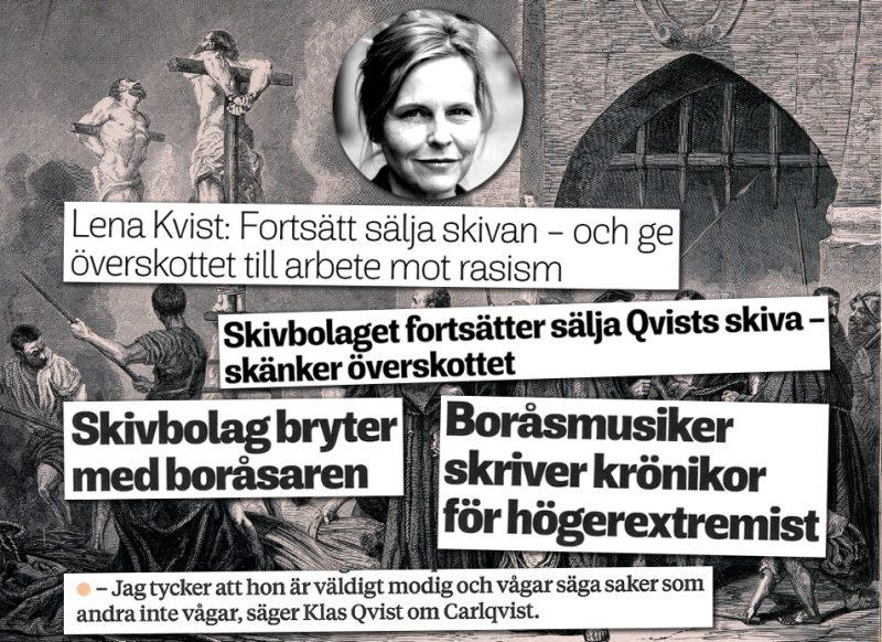 """Musikern Klas Qvist dumpas av sitt skivbolag – för att han skriver för """"högerextremister"""""""