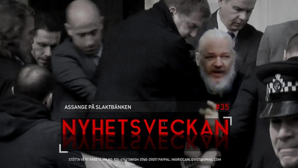 Nyhetsveckan #35 – Assange på slaktbänken, migranter trivs, Reinfeldts storhetsvansinne, Ebbamobbing
