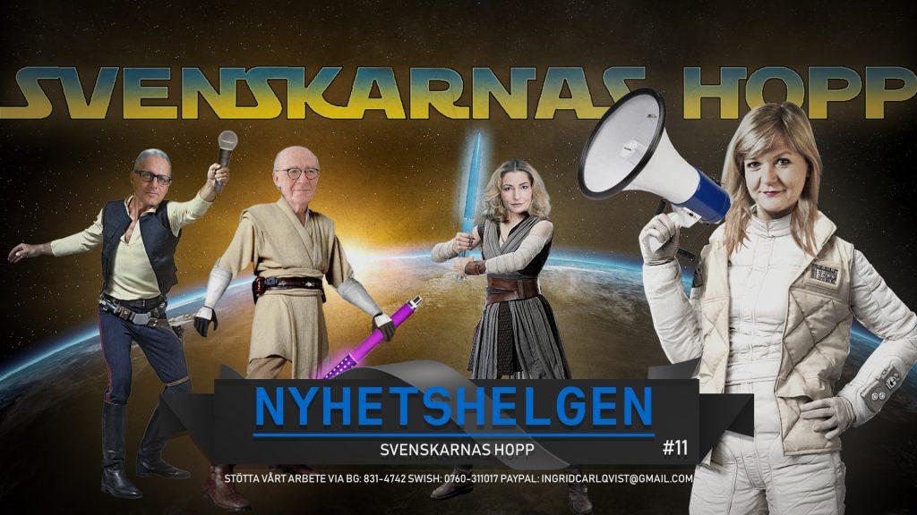 Nyhetshelgen #11 – Svenskarnas hopp, kalabalik i SD, TV4s Stasifasoner, vilda protester
