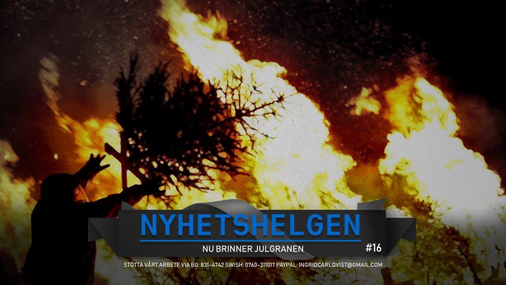 Nyhetshelgen #16 – Nu brinner julgranen, sista tiggaren lämnar Sölvesborg, gängkrig