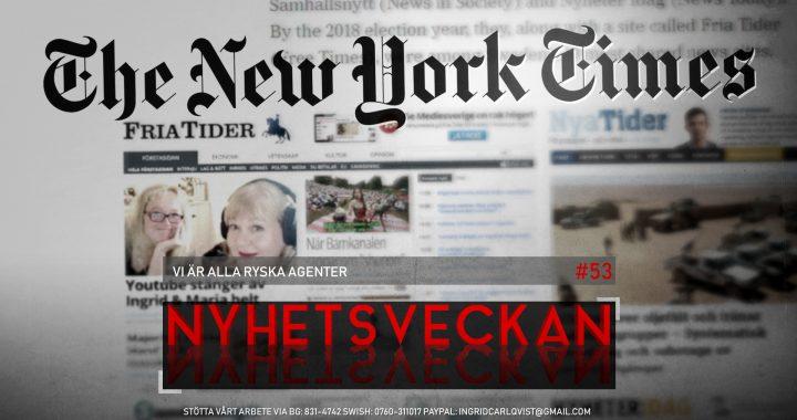 Nyhetsveckan #53 – Vi är alla ryska agenter, uzbekiska terrorister, dokumentär om Bechir Rabani, stackars Greta