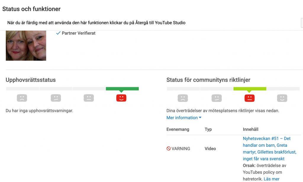 Youtube censurerar Ingrid&Maria