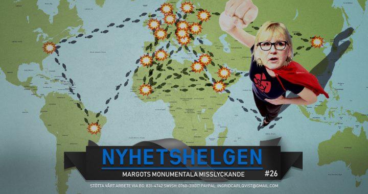 Nyhetshelgen  #26 – Margots Monumentala Misslyckande, mer kannibalism, snabbare befolkningsutbyte