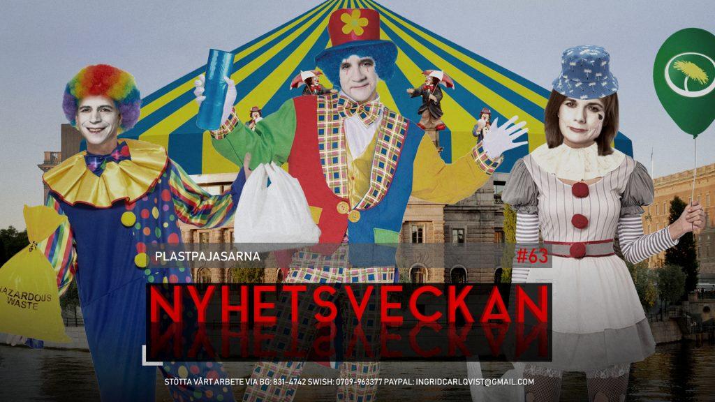 Nyhetsveckan #63 – Plastpajasarna, platinaregn, Mattias Karlsson polisanmäld, striden S-SD