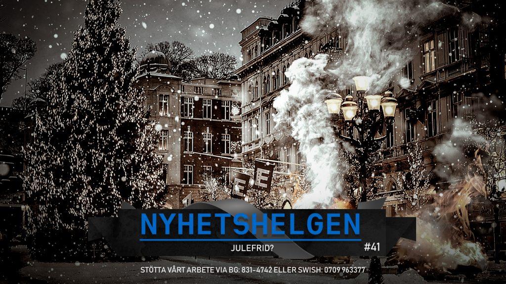 Nyhetshelgen #41 – Julefrid?, lögnerna om Brå, ny skandal med bidragspolitiker