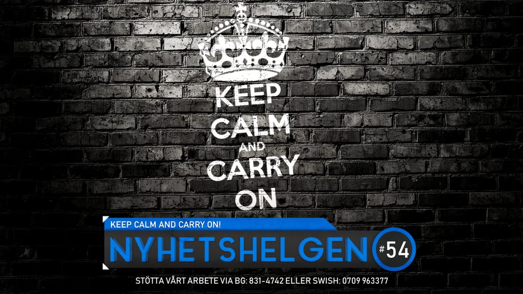 Nyhetshelgen #54 – Keep calm and carry on!, svensk inbilskhet, Dr Tengele