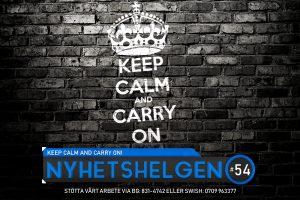 Nyhetshelgen #54 – Keep calm and carry on!, svensk inbilskhet, Dr Tengele