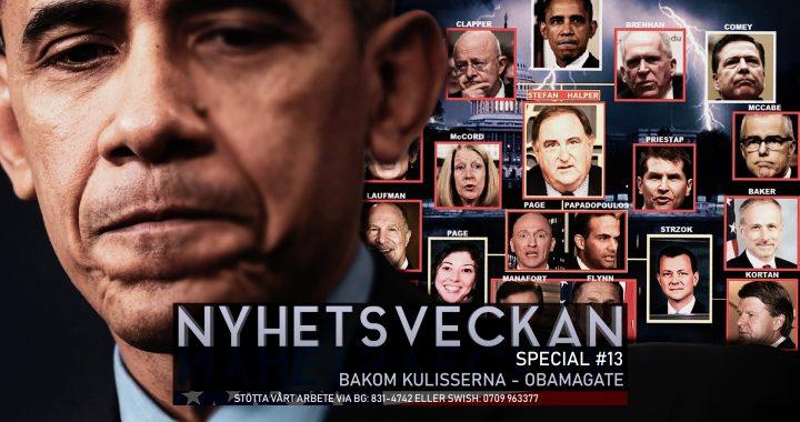 Nyhetsveckan Special #13 – Bakom kulisserna – Obamagate