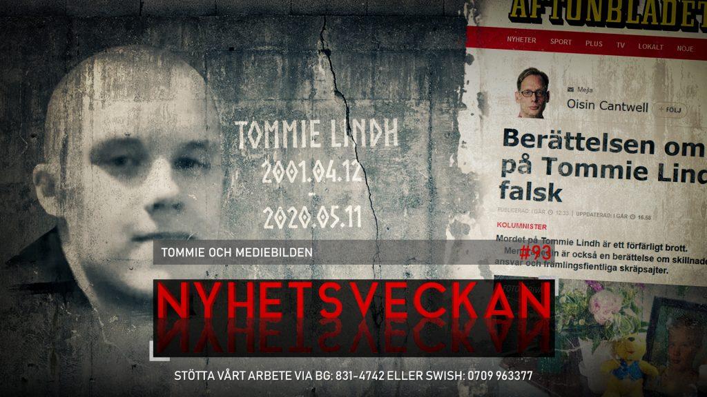 Nyhetsveckan #93 – Tommie och mediebilden, sexköp värre än våldtäkt, nytt polisfiasko