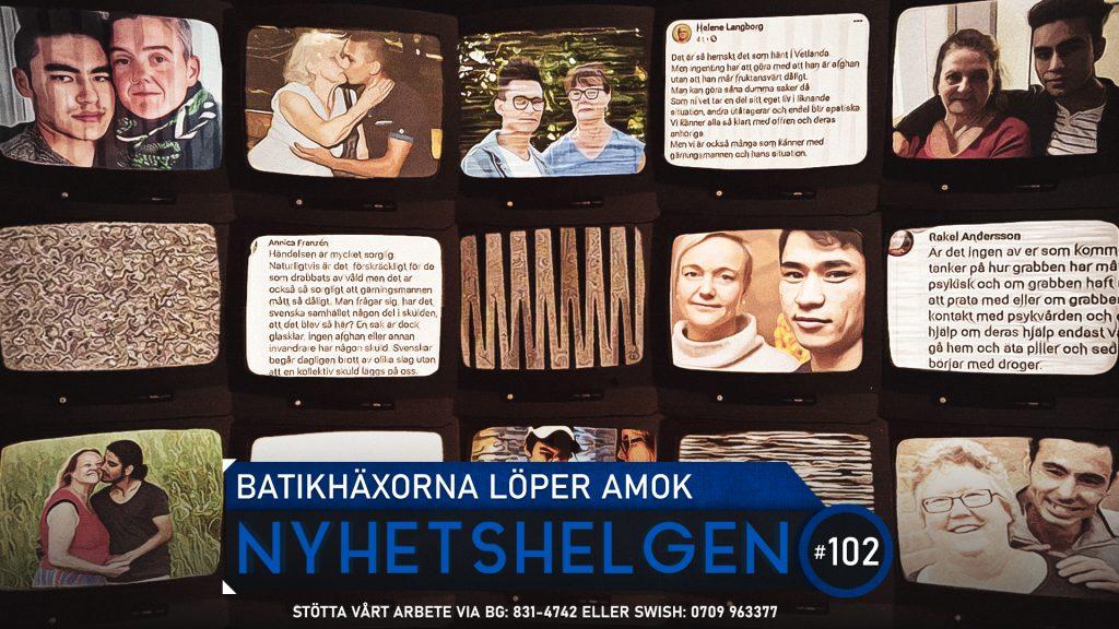 Nyhetshelgen #102 – Batikhäxorna löper amok, polisen löper amok, Meghan och Harry löper amok